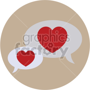 valentines chat bubbles vector icon on brown background clipart. Royalty-free image # 407446