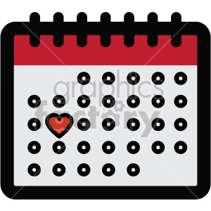 calendar icon for valentines day clipart. Royalty-free image # 407455