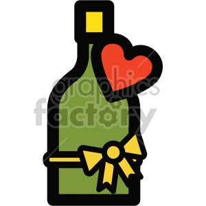 champagne bottle icon for valentines clipart. Royalty-free image # 407491
