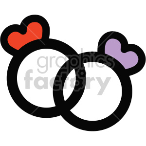 wedding rings icon clipart. Royalty-free image # 407507