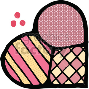 heart with different patterns clipart. Royalty-free image # 407529