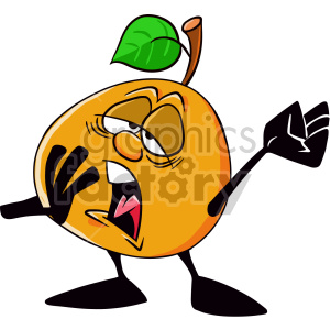 tired orange cartoon character clipart. Royalty-free image # 407539