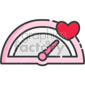 speedometer of love clipart. Royalty-free icon # 407555