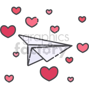love letter paper plane clipart. Commercial use image # 407565