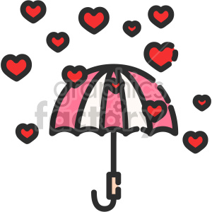 valentines valentines+day icon love hearts rain weather umbrella