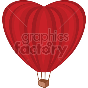 heart shaped hot air balloon no background clipart. Commercial use image # 407591