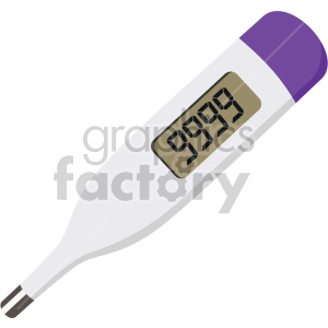 9999 thermometer temp no background clipart. Commercial use image # 407611