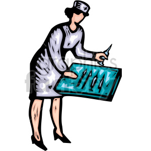 cartoon nurse clipart. Royalty-free image # 149499