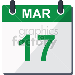st patricks day calendar no background clipart. Commercial use image # 407661