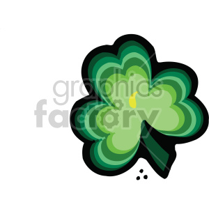 shamrock clover 009 c clipart. Royalty-free image # 407702