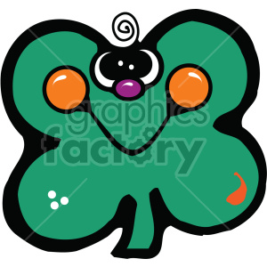clover cartoon 008 c clipart. Royalty-free image # 407706