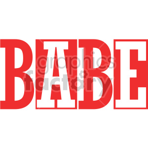 typography words babe