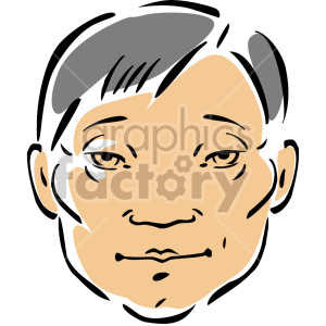 Asian male face clipart. Royalty-free image # 157267
