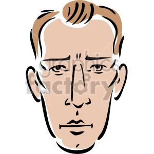 serious look on man's face clipart. Royalty-free image # 157311