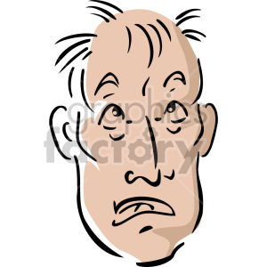 scared man clipart. Royalty-free image # 157371