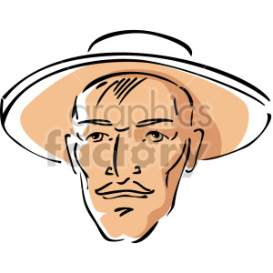 man wearing hat clipart. Royalty-free image # 157381