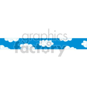Blue and white cloud header clipart. Royalty-free image # 166980
