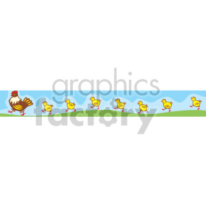 Chicken and baby chicks clipart. Royalty-free image # 166988