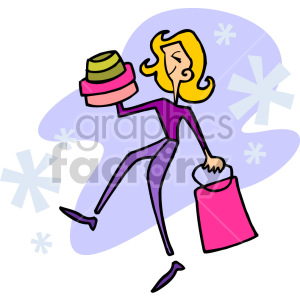 girl shopping clipart. Commercial use image # 155232