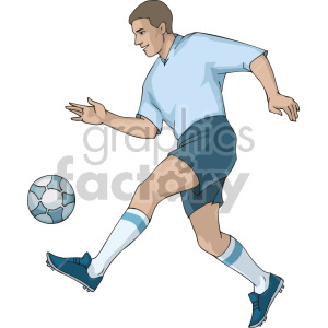 guy playing soccer clipart. Royalty-free image # 155391