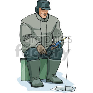 ice fishing clipart. Commercial use image # 168919