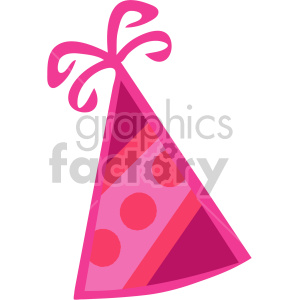 pink party hat clipart. Commercial use image # 145217