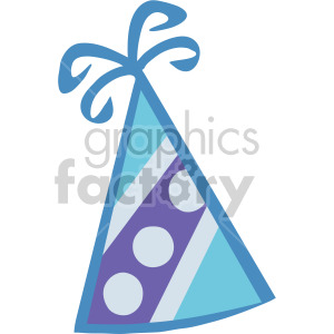 blue party hat clipart. Commercial use image # 145214