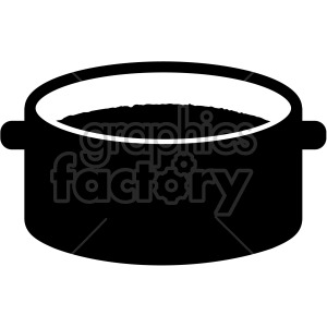 large cooking soup pot clipart. Commercial use image # 407784