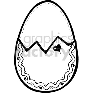 easter egg 012 bw clipart. Royalty-free image # 407843