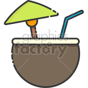 Pina Colada drink clipart. Royalty-free icon # 407933