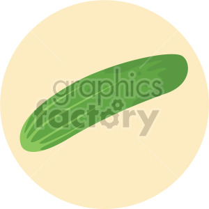 cucumber on yellow circle background clipart. Commercial use image # 407975