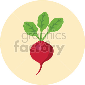 radish on yellow circle background clipart. Commercial use image # 408006