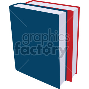 two books standing up no background clipart. Royalty-free image # 408103