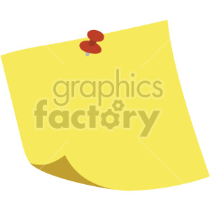 pinned note no background clipart. Royalty-free icon # 408104