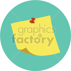 sticky note on green background clipart. Royalty-free image # 408105