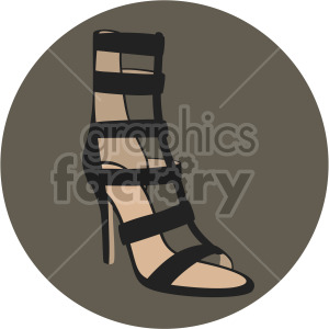gladiator shoes on dark circle background clipart. Royalty-free image # 408146