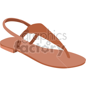 thong sandal clipart. Commercial use image # 408151