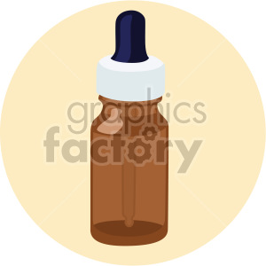 medication dropper bottle on yellow background clipart. Commercial use image # 408229