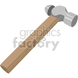 ball pein hammer no background clipart. Commercial use image # 408234