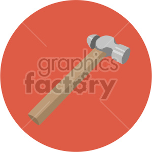 ball pein hammer on circle background clipart. Royalty-free image # 408236