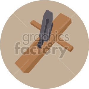 wooden tool on circle background clipart. Royalty-free image # 408255