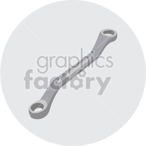angled wrench on circle background clipart. Royalty-free image # 408276