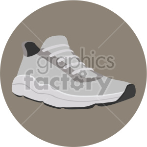 running shoe on brown background clipart. Commercial use image # 408325