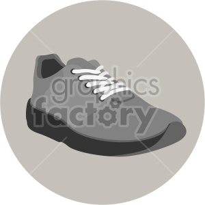 gray shoe with circle background