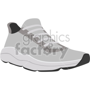 gray running shoe clipart. Commercial use image # 408341