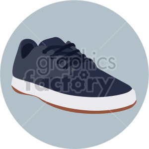 blue walking shoe on circle design clipart. Commercial use image # 408351