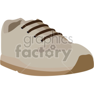 tan walking shoe clipart. Commercial use image # 408359