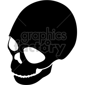 skull three quarter top view clipart. Commercial use image # 408369