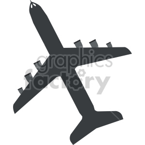 clipart - commercial airplane vector.