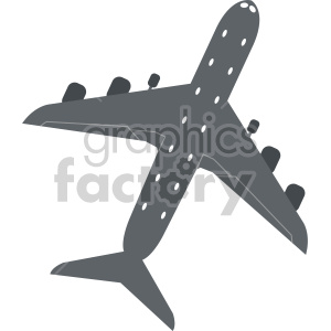 commercial airplane cartoon clipart. Royalty-free image # 408436